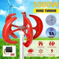 5000W AC 12V-24V - generator turbiny wiatrowej - latarnia - silnik 5 ostrzy - oś pionowa - zestaw