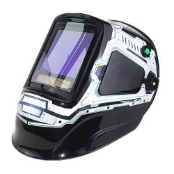 Kask spawalniczy z automatycznym przyciemnieniem - maska - 3 okienka widokowe - DIN 4-13 - 5 czujników CE
