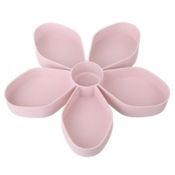 Petal-shaped snack box tray - rotating - food storage
