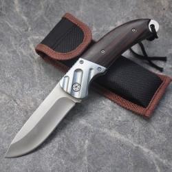 Mini-Taschenmesser mit Holzgriff - klappbar 15cm