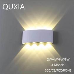 Nowoczesna aluminiowa lampa ścienna LED - 2W - 4W - 6W - 8W