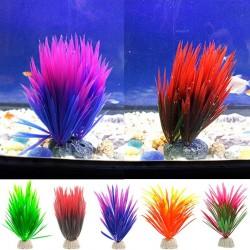 Plante verte artificielle - herbe décorative pour aquarium
