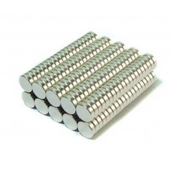 N52 Neodymium magnet - cylinder 4mm * 2mm - 50 pieces