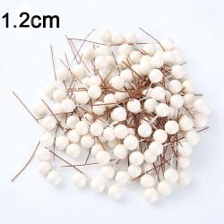 Mini plastikowe jagody - perły do dekoracji - sztuka zrób to sam - DIY - 50 sztuk