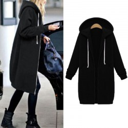 Casual BTS hoodie zipper long and coat - sweatshirt - jacket- women plus size 5XL