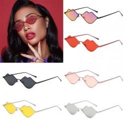 Lippenvormige zonnebril met een metalen frame