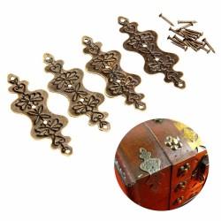 Antique brass - furniture corner decorative protectors - 4 pieces