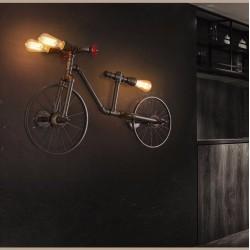 Rower & rura wodna - vintage lampa LED Edison - kinkiet