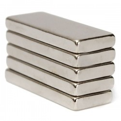 N52 Neodymium Magnet Strong Block 25 * 10 * 3mm 5pcs