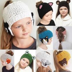 Zimowa czapka ochronna na uszy - wełniana opaska dla dzieci