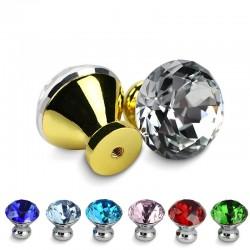 Meubelgrepen met schroeven - kristallen knoppen - 30 mm - 5 stuks